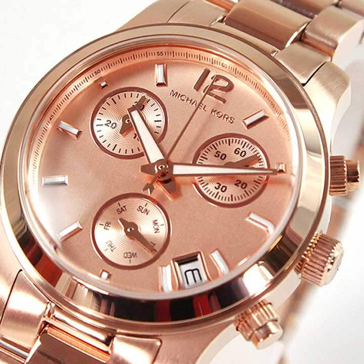 14a0fcbbec04 ... ☆ MICHAEL KORS Michael Kors MK5430 the RUNWAY runway unisex unisex ladies  watch ladies watches watch brand brand new chronograph rose gold gold metal