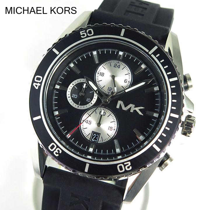 watch store kato tokeiten rakuten global market ★ michael kors michael kors michael kors mk8355 mens watch men s watches brand new analog watch black silver
