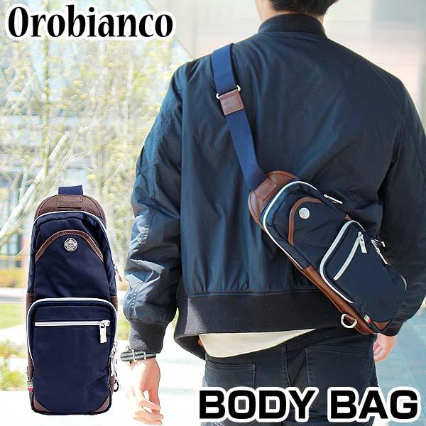 【送料無料】OROBIANCO オロビアンコ GIACOMIO ジャコミオ メンズ ウエストバッグ ボディバッグ ショルダーバッグ カバン かばん 鞄 ウエストポーチ ブルー×ブラウン ネイビー 海外モデル 誕生日プレゼント 男性 ギフト