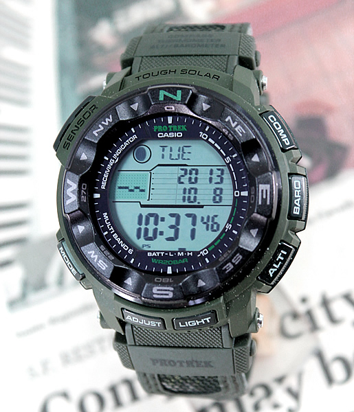 Watch store kato tokeiten casio casio protrek proto lec electric wave solar solar radio time for Protos watches