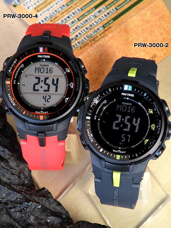 9732dfc18a CASIOPROTREKカシオプロトレック電波ソーラーソーラー電波時計PRW-3000-2メンズ腕時計