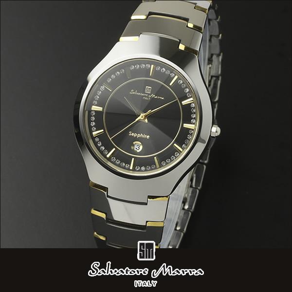 【送料無料】Salvatore Marra サルバトーレマーラ sm17102 海外モデル メンズ 腕時計 ウォッチ クオーツ カジュアル ビジネス スーツ アナログ 黒 ブラック 銀 シルバー 国内正規品 誕生日プレゼント 男性 ギフト