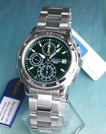 【先着!250円OFFクーポン】SEIKO セイコー 逆輸入 メンズ 腕時計 時計 薄型クロノグラフ SND411P 正規海外モデル モスグリーン 日本製ムーブメント 誕生日プレゼント 男性 ギフト