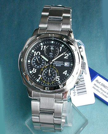 【先着!250円OFFクーポン】SEIKO セイコー 逆輸入 メンズ 腕時計 薄型 クロノグラフ SND195P1 正規海外モデル 日本製ムーブメント 誕生日プレゼント 男性 ギフト