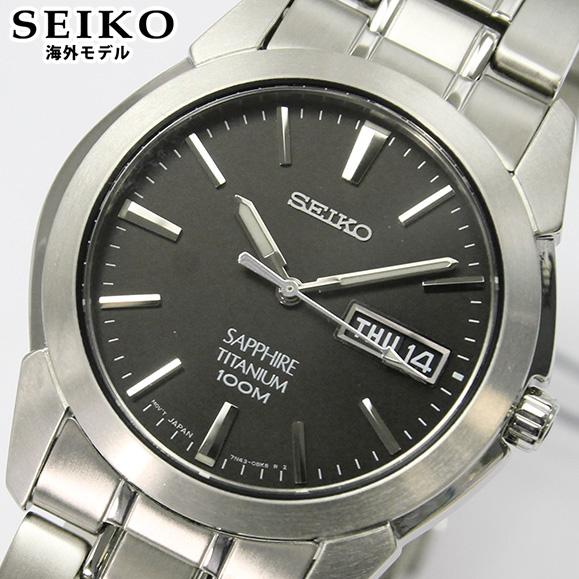 【先着!250円OFFクーポン】SEIKO セイコー 腕時計 メンズ 時計 ウオッチ SGG731P1 シルバー ブラック チタン 海外モデル アナログ 誕生日 逆輸入 誕生日プレゼント 男性 ギフト