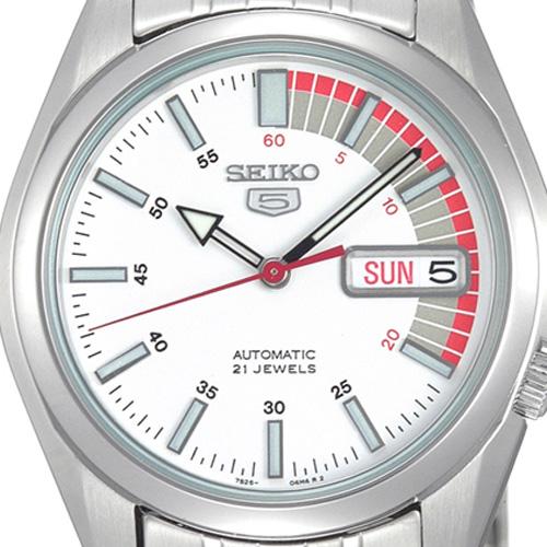 SEIKO5 精工 5 SNK369JC SNK369J1 男装手表模拟自动卷白色白色手表品牌新手表男装男性定期海外模型