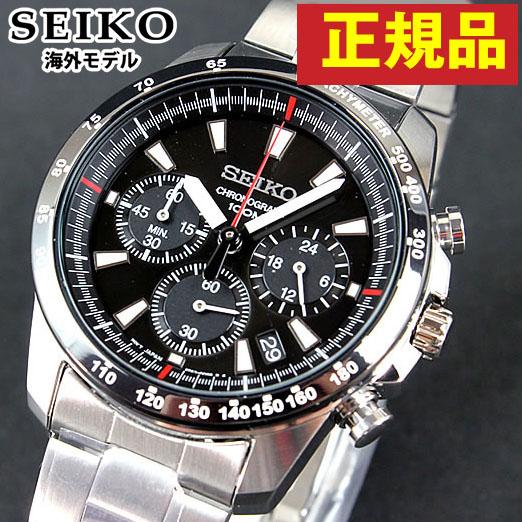 【送料無料】セイコー SEIKO クロノグラフ SSB031PC 正規海外モデル日本製ムーブメント メンズ 腕時計 逆輸入 誕生日プレゼント 男性 ギフト