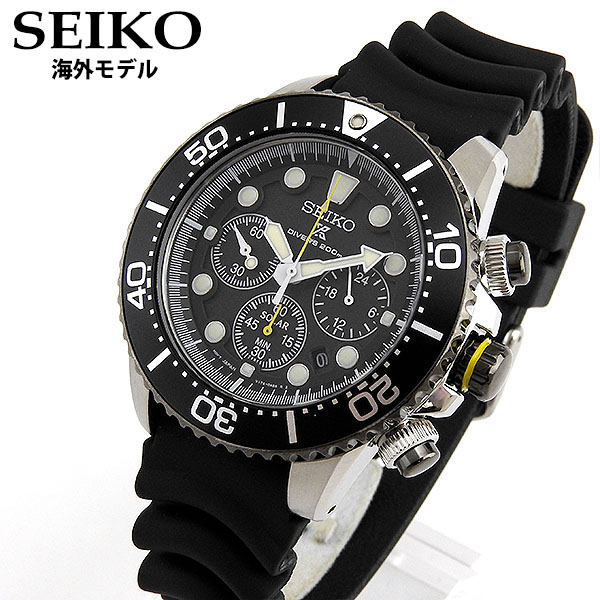 sports shoes 5ca3c 2e8d7 SEIKO SEIKO foreign countries model SSC021P1 black urethane band Diver s  Watch diver's watch solar men watch parallel import goods diver's watch ...