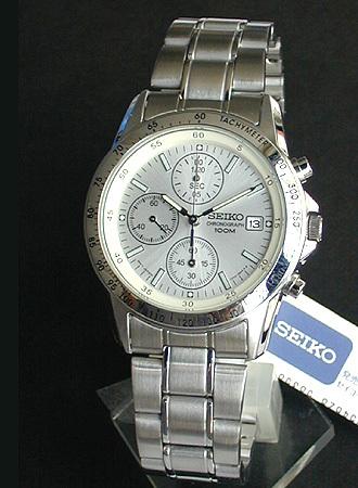 【先着!250円OFFクーポン】SEIKO セイコー 逆輸入 クロノグラフ メンズ 腕時計時計 タキメーター シルバー SND363P1 SND363PC 正規海外モデル 日本製ムーブメント【あす楽対応】誕生日プレゼント 男性 ギフト