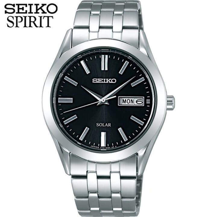セイコー セレクション スピリット 腕時計 SEIKO SELECTION SPIRIT メンズ ソーラー ペアシリーズ SBPX083 国内正規品 ウォッチ メタル バンド アナログ 銀 シルバー 黒 ブラック 誕生日 男性 ギフト プレゼント