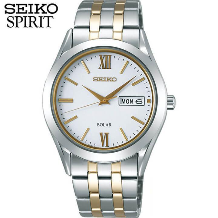 セイコー セレクション スピリット 腕時計 SEIKO SELECTION SPIRIT メンズ ソーラー ペアシリーズ SBPX085 国内正規品 ウォッチ メタル バンド アナログ 銀 シルバー 金 ゴールド 誕生日 男性 ギフト プレゼント