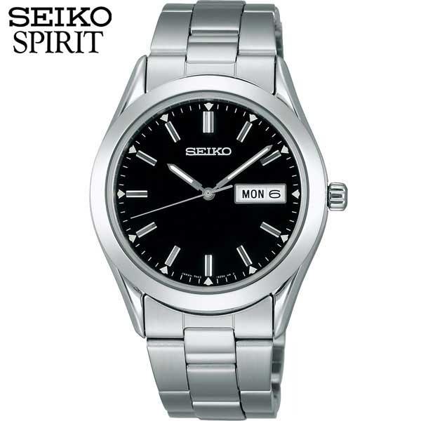 セイコー セレクション スピリット 腕時計 SEIKO SELECTION SPIRIT メンズ SCDC085 国内正規品 ウォッチ メタル バンド クオーツ アナログ 黒 ブラック 商品到着後レビューを書いて7年保証 誕生日プレゼント 男性 ギフト