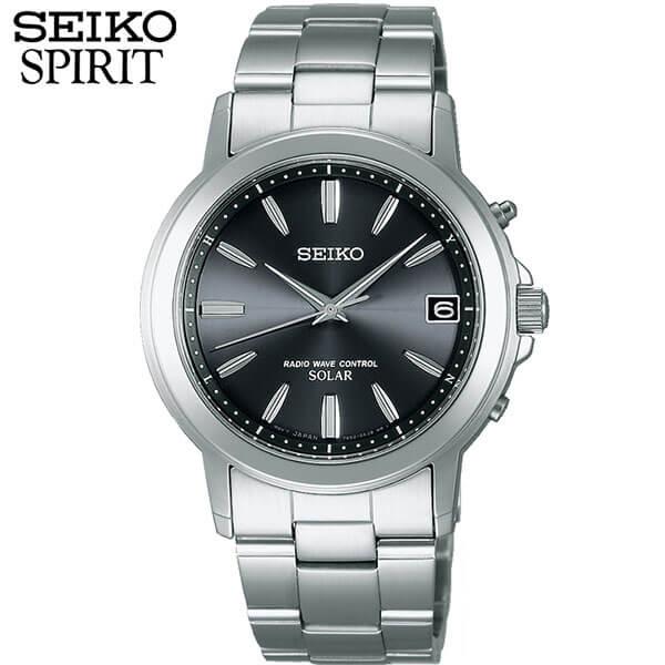 セイコー セレクション スピリット 腕時計 SEIKO SELECTION SPIRIT 電波ソーラー 電波 ソーラー メンズ SBTM169 国内正規品 メタル バンド アナログ 黒 ブラック シルバー 誕生日プレゼント 男性 ギフト