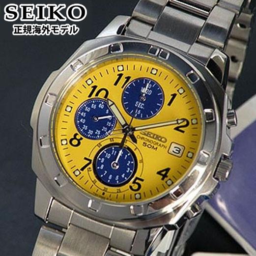 【先着!250円OFFクーポン】SEIKO セイコー 逆輸入 メンズ 腕時計 クロノグラフ SND409P1 イエロー 正規海外モデル 誕生日プレゼント 男性 ギフト
