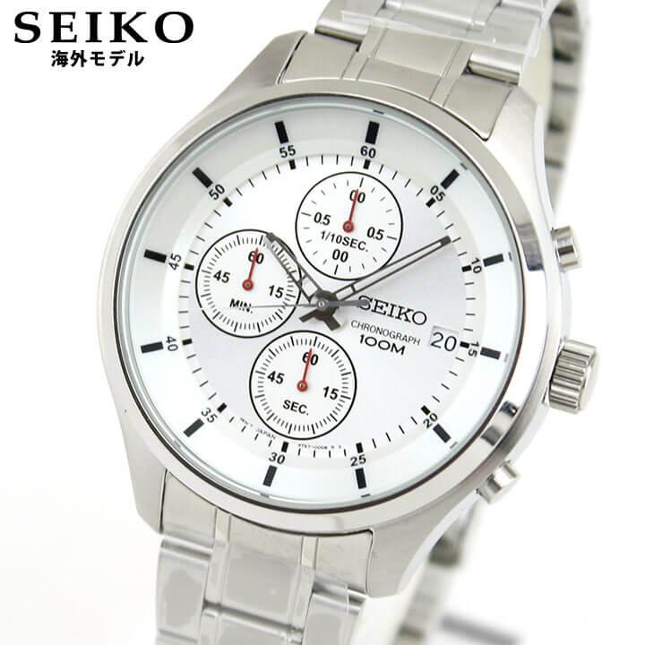 SEIKO セイコー SKS535P1 海外モデル メンズ 腕時計 ウォッチ メタル バンド クロノグラフ クオーツ アナログ 銀 シルバー 逆輸入 誕生日 男性 ギフト プレゼント
