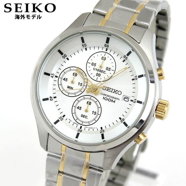 【送料無料】SEIKO セイコー 逆輸入 海外モデル SKS541P1 メンズ 腕時計 ウォッチ メタル バンド クオーツ アナログ 銀 シルバー 金 ゴールド 誕生日プレゼント 男性 ギフト