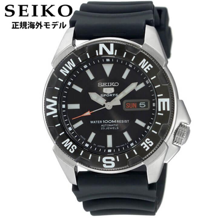 【送料無料】SEIKO セイコー SNZE81JD SNZE81J2 正規海外モデル メンズ 腕時計 ウォッチ ウレタン バンド 機械式 メカニカル 自動巻き アナログ 黒 ブラック 銀 シルバー 逆輸入 誕生日プレゼント 男性 ギフト