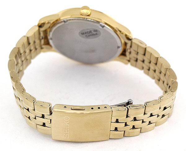 【】SEIKO セイコー SUR224P1 海外モデル 逆輸入 メンズ 腕時計 ウォッチ メタル バンド クオーツ アナログ 金 ゴールド 銀 シルバー 誕生日プレゼント 男性 ギフト