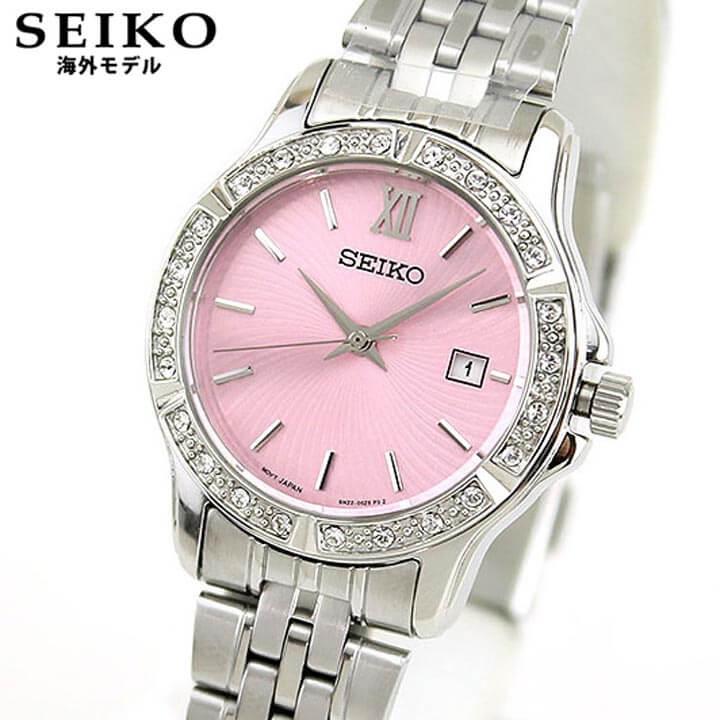 【送料無料】SEIKO セイコー 逆輸入 海外モデル SUR739P1 レディース 腕時計 ウォッチ メタル バンド クオーツ アナログ 銀 シルバー ピンク 誕生日プレゼント 女性 ギフト