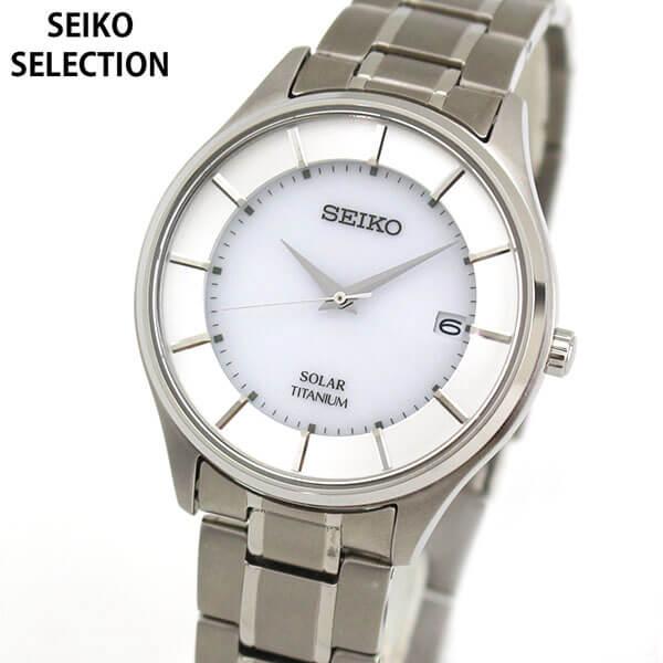 【送料無料】セイコー セレクション 腕時計 SEIKO SELECTION メンズ チタン ソーラー ペアシリーズ SBPX101 国内正規品 ウォッチ メタル バンド アナログ シルバー 商品到着後レビューを書いて7年保証 誕生日プレゼント 男性 ギフト