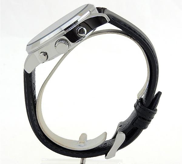 【】 SEIKO セイコー SKS595P1 海外モデル メンズ 腕時計 革ベルト レザー クオーツ アナログ 黒 ブラック グレー 海外モデル 誕生日プレゼント 男性 ギフト