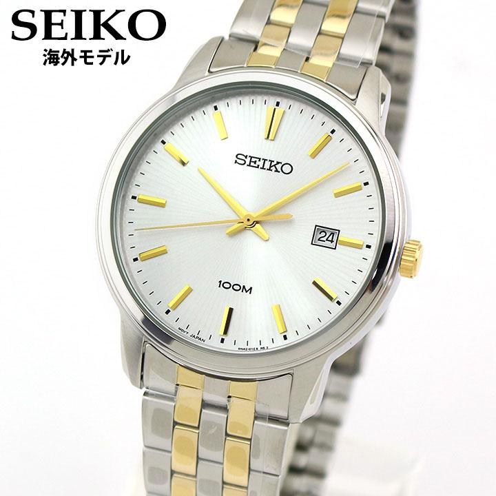 【送料無料】SEIKO セイコー Neo Classic ネオクラシック SUR263P1 メンズ 腕時計 メタル カレンダー クオーツ アナログ 金 ゴールド 銀 シルバー 海外モデル 誕生日プレゼント 男性 クリスマス ギフト