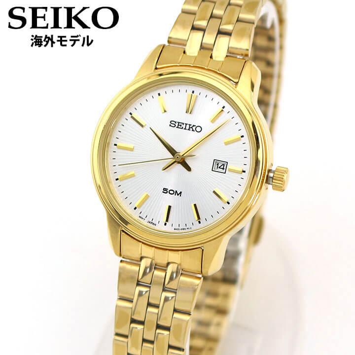 【送料無料】 SEIKO セイコー Neo Classic ネオクラシック SUR660P1 レディース 腕時計 メタル カレンダー クオーツ アナログ 銀 シルバー 金 ゴールド 海外モデル