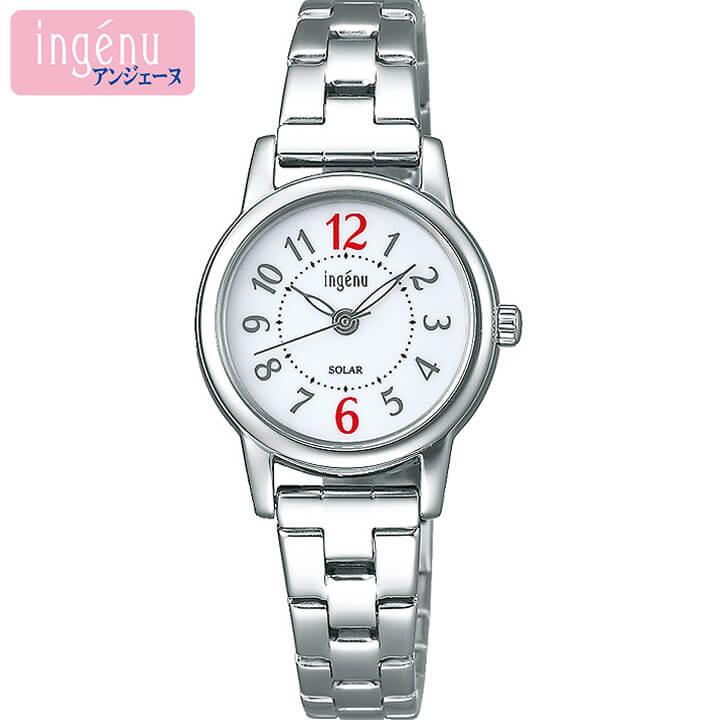 SEIKO セイコー ALBA アルバ ingenu アンジェーヌ AHJD401 レディース 腕時計 メタル ソーラー アナログ 白 ホワイト 銀 シルバー 国内正規品 商品到着後レビューを書いて7年保証 誕生日 女性 ギフト プレゼント
