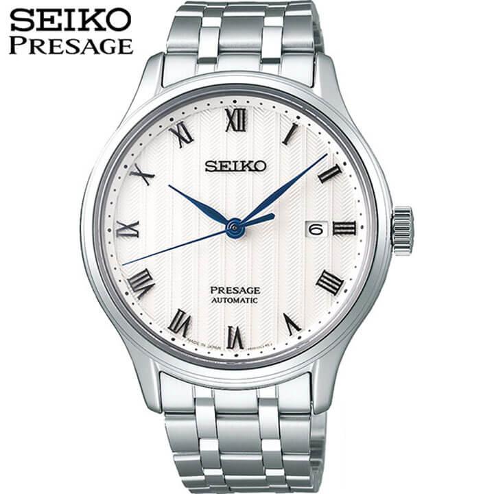 【先着!250円OFFクーポン】【ノベルティ付き】SEIKO セイコー PRESAGE プレザージュ SARY097 メンズ 腕時計 メタル 機械式 メカニカル 自動巻き アナログ 白 ホワイト 銀 シルバー 国内正規品