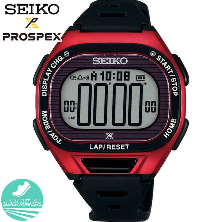 【送料無料】SEIKO セイコー PROSPEX プロスペックス スーパーランナーズ SBEF047 メンズ 腕時計 ソーラー デジタル 黒 ブラック レッド 国内正規品 商品到着後レビューを書いて7年保証 卒業祝い 入学祝い