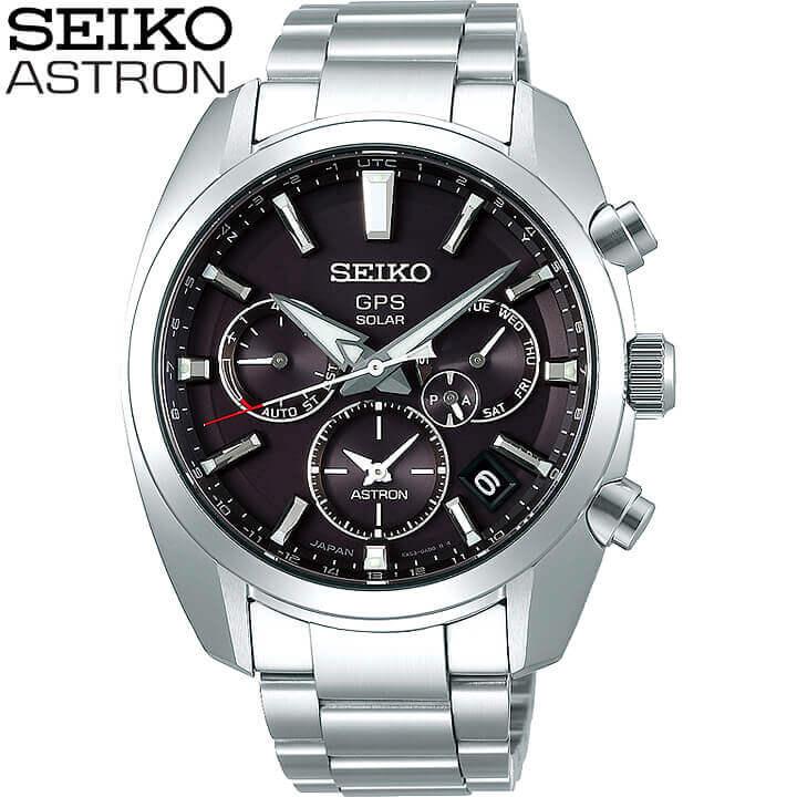 【先着!250円OFFクーポン】SEIKO セイコー ASTRON アストロン SBXC021 メンズ 腕時計 メタル アナログ 黒 ブラック 銀 シルバー ソーラーGPS衛星電波修正 誕生日プレゼント 男性 ギフト 国内正規品