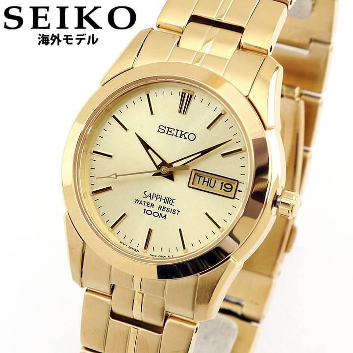 【先着!250円OFFクーポン】SEIKO セイコー 逆輸入 海外モデル SGGA62P1 メンズ レディース 腕時計 メタル クオーツ アナログ 金 ゴールド 誕生日プレゼント 卒業祝い 入学祝い 男性 女性 ギフト 海外モデル