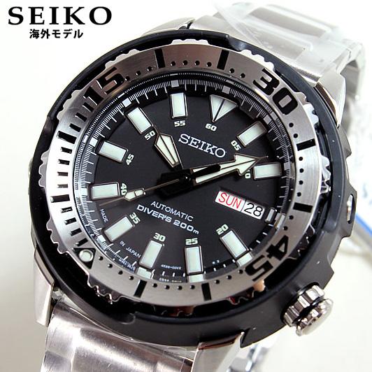 【SEIKO SUPERIOR】セイコー スーペリア SRP227J1 自動巻き オートマチック ブラック×シルバー メタルバンド メンズ 腕時計 時計Made in Japan 逆輸入 誕生日プレゼント 男性 バレンタイン ギフト