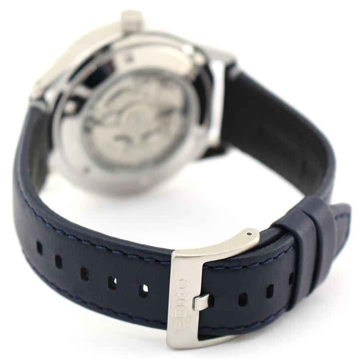 SEIKO セイコー 逆輸入 海外モデル  SSA391K1 メンズ 腕時計 革ベルト レザー 機械式 メカニカル 自動巻き アナログ 青 ネイビー 誕生日プレゼント 男性 ギフト