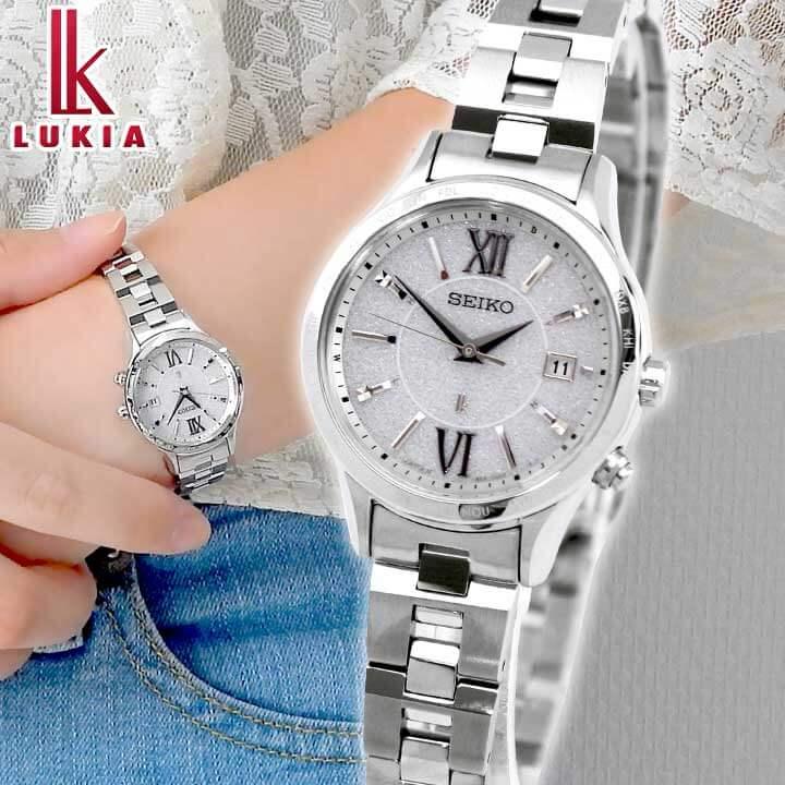 【ノベルティ付き】【送料無料】SEIKO セイコー LUKIA ルキア ペア SSVV035 レディース 腕時計 メタル 電波ソーラー 白 ホワイト 銀 シルバー 誕生日プレゼント 女性 ホワイトデー お返し 卒業祝い 入学祝い ギフト 国内正規品