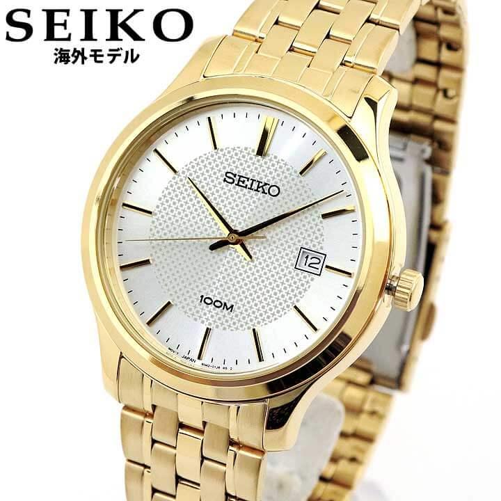 【先着!250円OFFクーポン】SEIKO セイコー 逆輸入 海外モデル SUR296P1 メンズ 腕時計 メタル クオーツ アナログ 金 ゴールド 銀 シルバー 誕生日プレゼント 卒業祝い 入学祝い 男性 ギフト 海外モデル