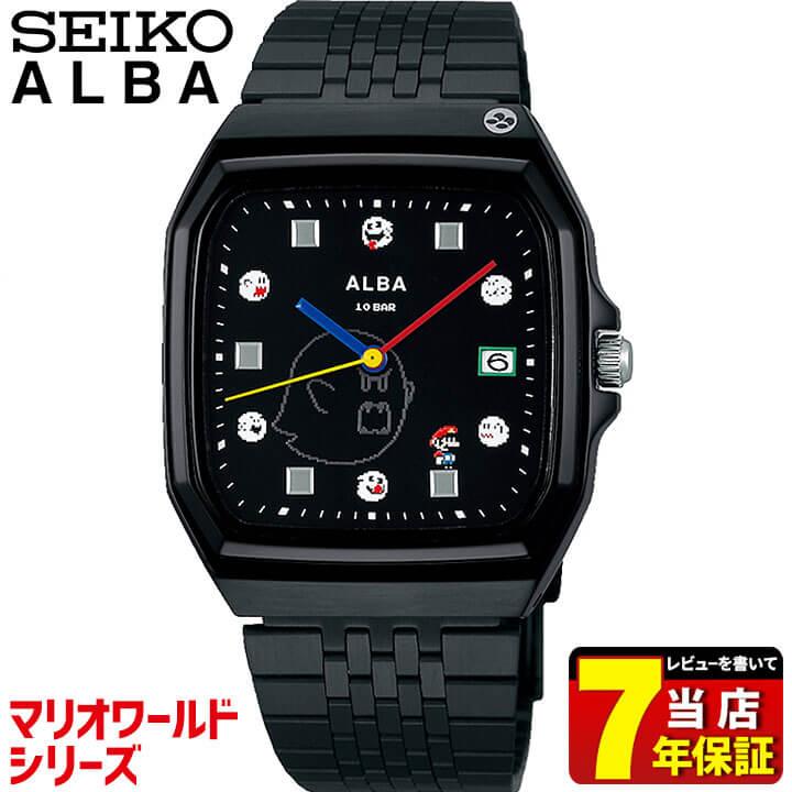 SEIKO セイコー ALBA アルバ クオーツ マリオワールドシリーズ メンズ レディース 腕時計 時計 男女兼用 黒 ブラック 誕生日 男性 女性 ギフト プレゼント ACCK426 国内正規品
