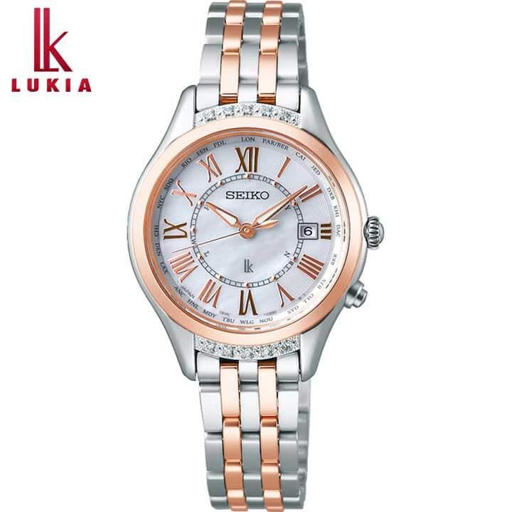 SEIKO セイコー LUKIA ルキア ソーラー電波 レディース 腕時計 メタル 銀 シルバー ローズゴールド 白蝶貝 誕生日 女性 ギフト プレゼント SSVV054 国内正規品 新社会人