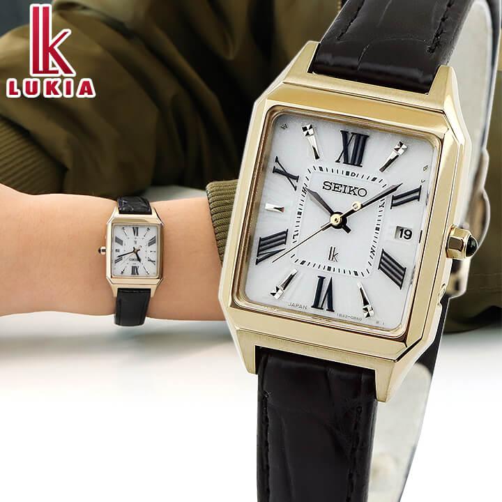 【先行予約受付中!11月9日発売予定】 SEIKO セイコー LUKIA ルキア レディース 腕時計 黒 ブラック 白 ホワイト 金 ゴールド リニューアルモデル クロコダイル 誕生日プレゼント 女性 ギフト SSVW162 国内正規品 商品到着後レビューを書いて7年保証