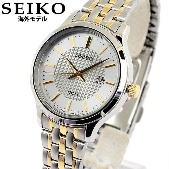 SEIKO セイコー 海外SEIKO レディース 腕時計 メタル カレンダー クオーツ 金 ゴールド 銀 シルバー SUR647P1 誕生日プレゼント 女性 ギフト 海外モデル