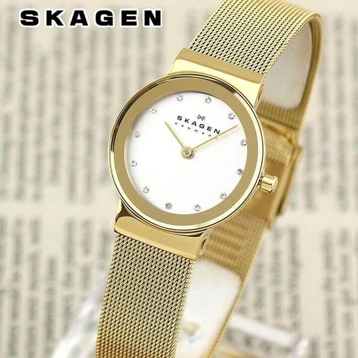 SKAGEN スカーゲン FREJA フレジャ レディース 北欧 腕時計 メタル クオーツ アナログ イエローゴールド 358SGGD 海外モデル 誕生日プレゼント 女性 卒業祝い 入学祝い ギフト