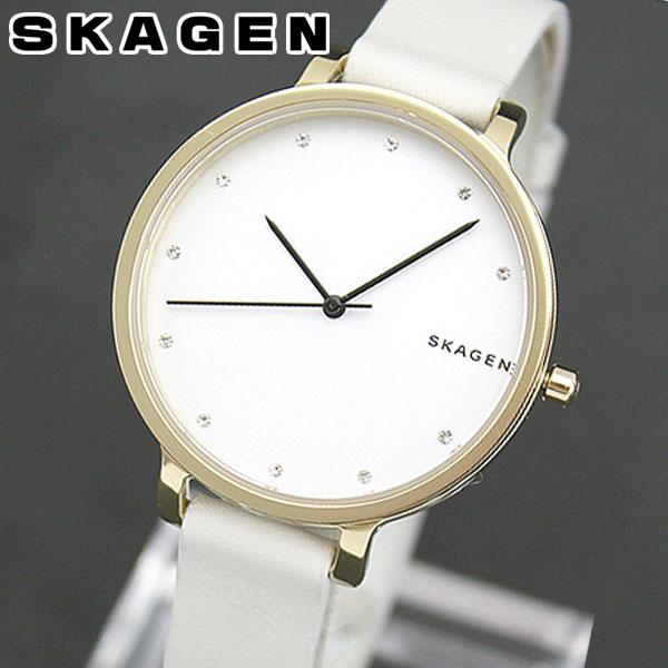 【送料無料】SKAGEN スカーゲン SKW2578 海外モデル レディース 腕時計 ウォッチ 革ベルト レザー クオーツ アナログ 白 ホワイト 北欧デザイン 誕生日プレゼント 女性 ギフト