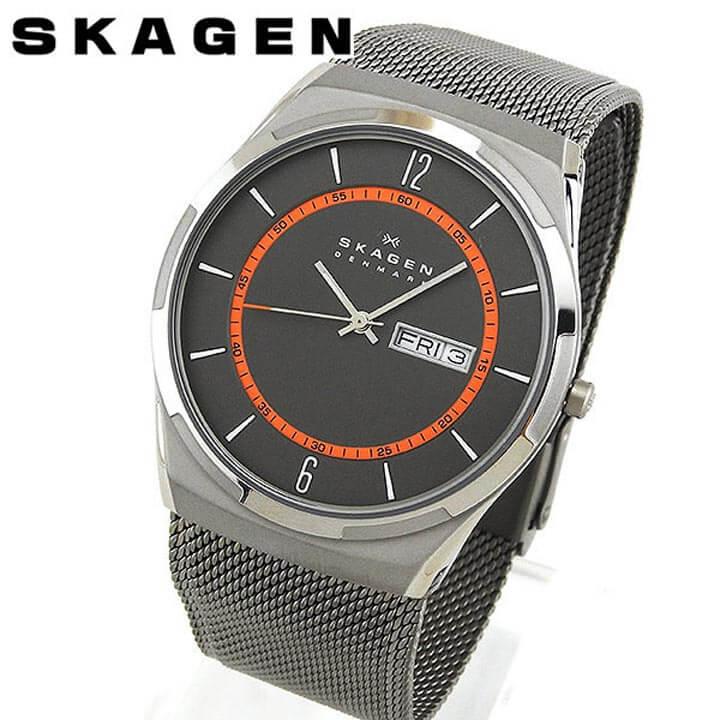 【送料無料】SKAGEN スカーゲン SKW6007 海外モデル メンズ 腕時計 ウォッチ チタン メタル バンド クオーツ アナログ 銀 シルバー 北欧デザイン 誕生日プレゼント 男性 卒業祝い 入学祝い ギフト