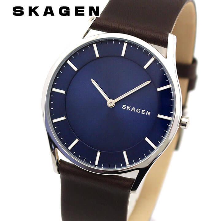 SKAGEN スカーゲン HOLST ホルスト SKW6237 メンズ 腕時計 革ベルト レザー アナログ 青 ブルー ネイビー 茶 ブラウン 海外モデル