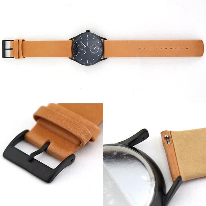 SKAGEN スカーゲン HOLST ホルスト SKW6265 メンズ 腕時計 革ベルト レザー クオーツ アナログ 黒 ブラック 茶 ブラウン 海外モデル 卒業祝い 入学祝い