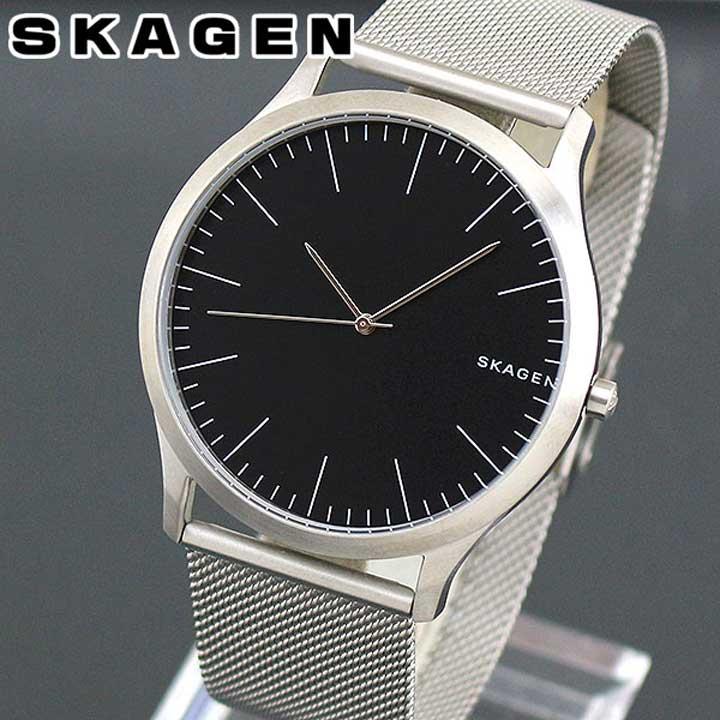 SKAGEN スカーゲン JORN ジョーン SKW6334 メンズ 北欧 腕時計 メタル 黒 ブラック 銀 シルバー 海外モデル 誕生日プレゼント 男性 ギフト