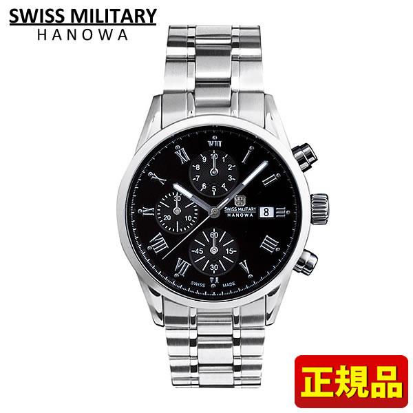 【送料無料】SWISS MILITARY スイスミリタリー ROMAN ローマン メンズ 腕時計時計ML346 ML-346 ブラック 黒 国内正規品 誕生日 誕生日プレゼント 男性 クリスマス ギフト