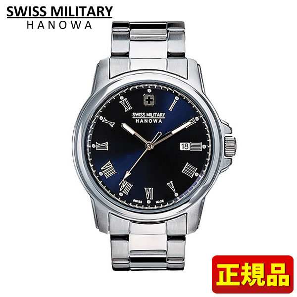 【送料無料】SWISS MILITARY ROMAN Hanowa スイスミリタリー ローマン メンズ 腕時計時計ML376 ML-376 国内正規品 ブラック 黒 ブルー 青 誕生日プレゼント 男性 クリスマス ギフト