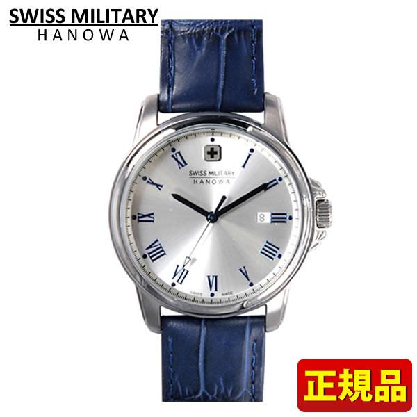 【送料無料】SWISS MILITARY ROMAN Hanowa スイスミリタリー ローマン メンズ 腕時計時計ML380 ML-380 青 ブルー レザー 国内正規品 誕生日プレゼント 男性 クリスマス ギフト
