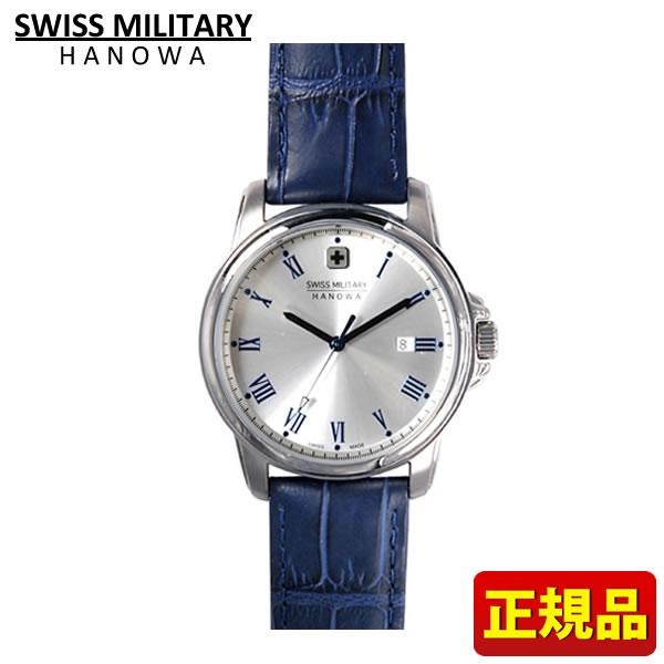 【送料無料】SWISS MILITARY ROMAN Hanowa スイスミリタリー ローマン レディース 腕時計時計ML382 ML-382 青 ブルー レザー 国内正規品 誕生日プレゼント 女性 ギフト